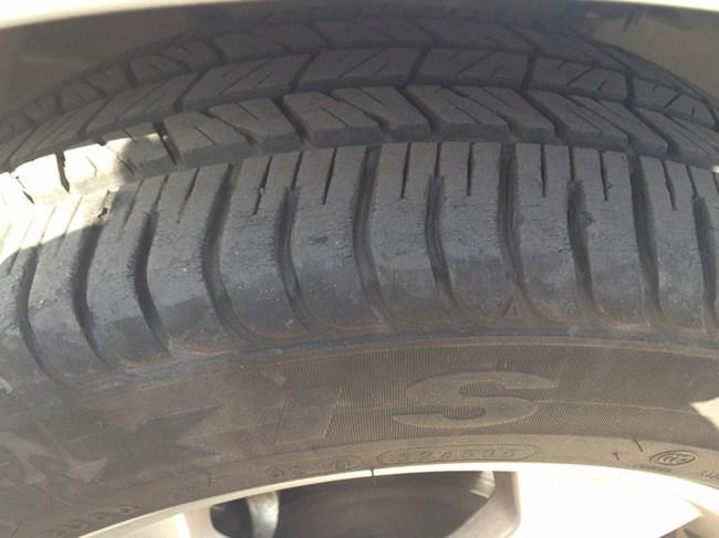 荣威350用车轮胎问答 -此轮胎还能用吗 玛吉斯车龄4年多点,里程5高清图片