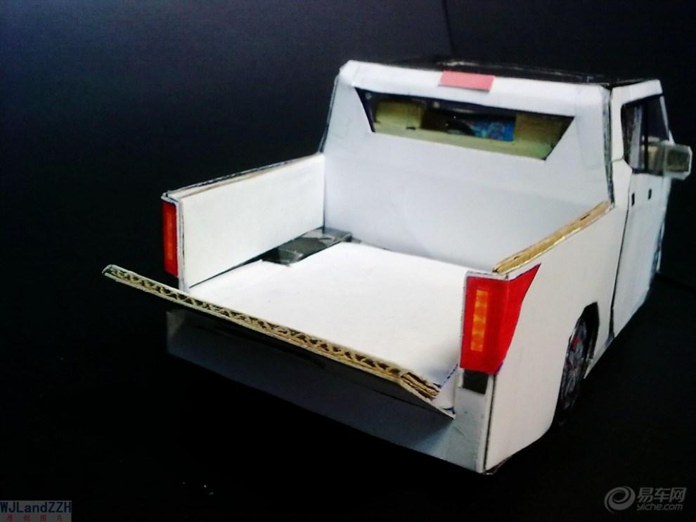 【模型达人季】纯手工制作纸质汽车模型——我的高端大皮卡