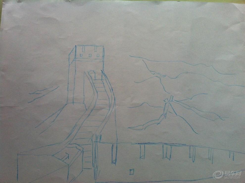 素描长城画图片 exo素描图片画图步骤,苹果素描画图高清图片