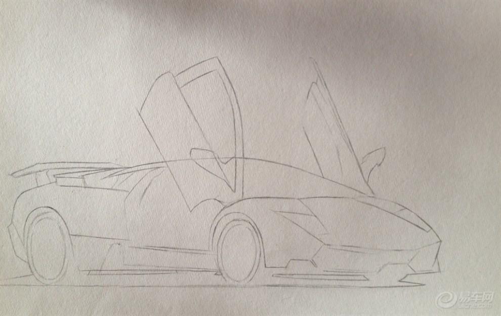 手绘第五季,手绘兰博基尼与丰田86(原创过程贴)