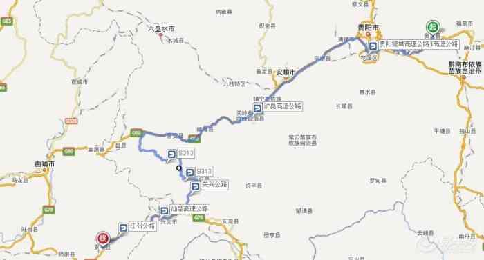万峰林景区地图