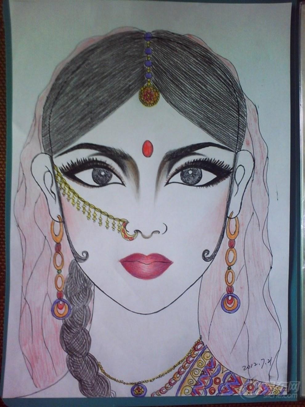 手绘彩妆设计图展示