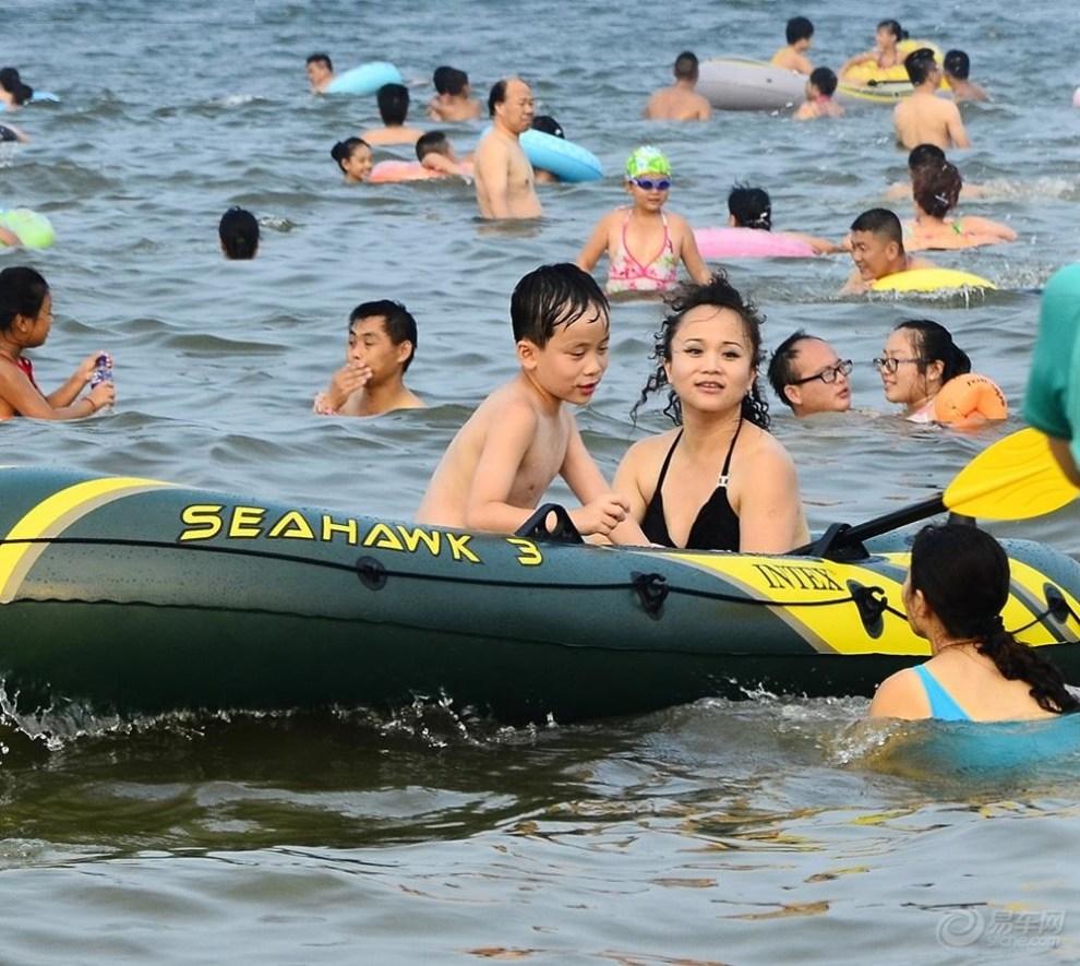 高温避暑——养马岛海水浴场畅游记