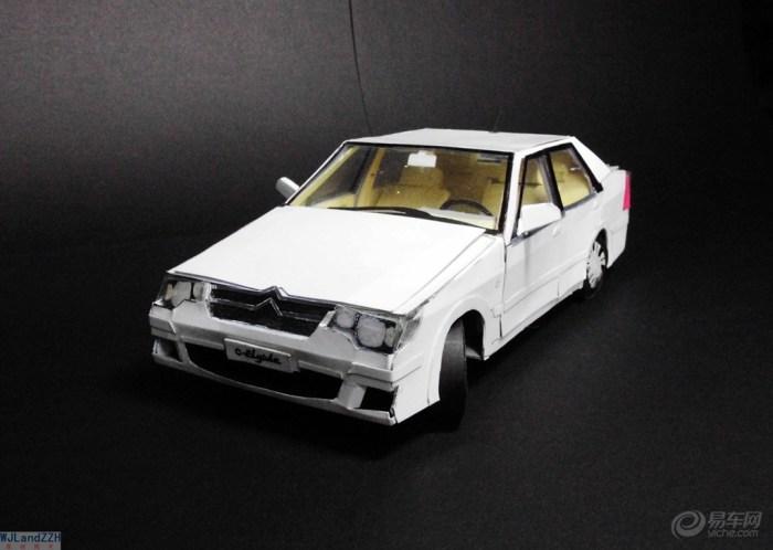 【【wjl纸模型】纯手工制作纸质汽车模型—雪铁龙