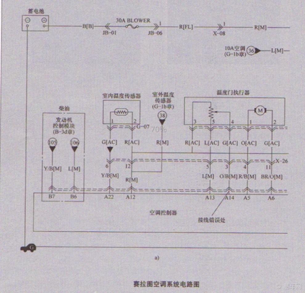 宝骏630空调电路图解