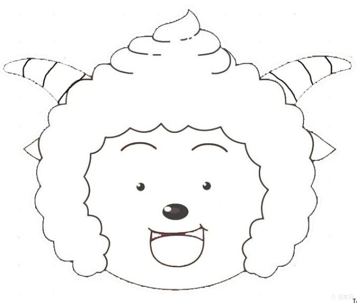 年红包】懒羊羊简笔画与壮志凌云对联】-喜气洋洋画羊羊