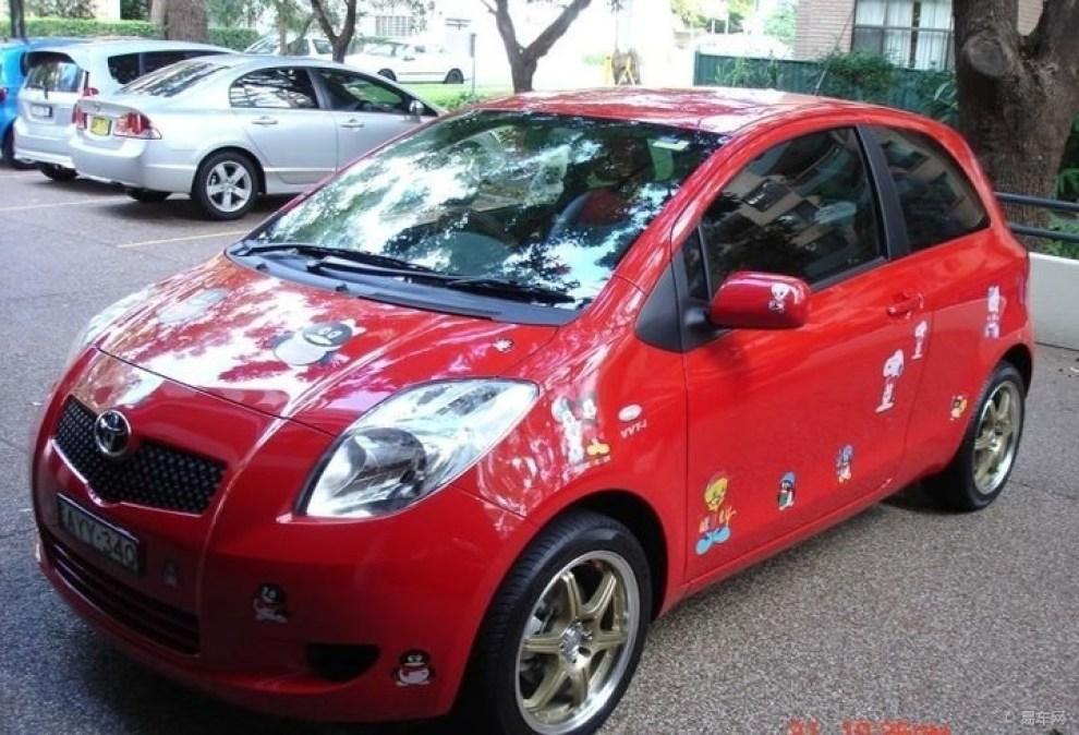 红色小车车,很可爱的.