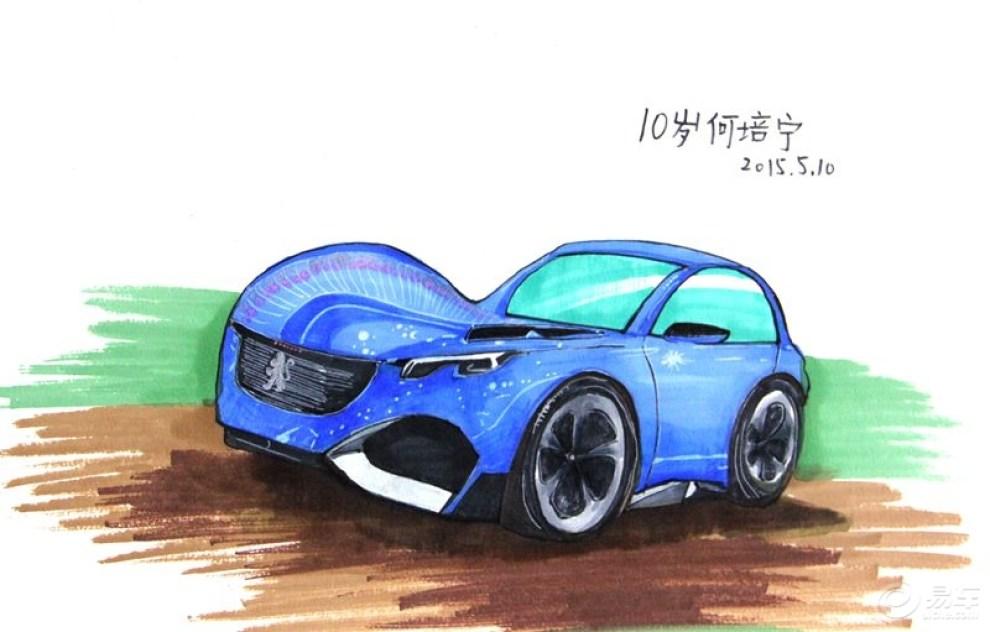 【何培宁画廊】我画卡通车-马克笔手绘