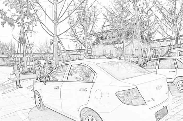简易线描山水画_江南素描画_江南素描画分享展示