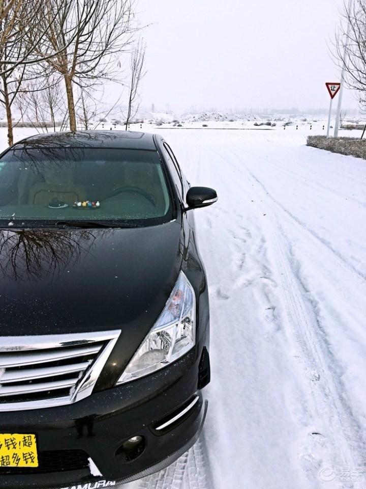 黑白绝搭下的雪景图