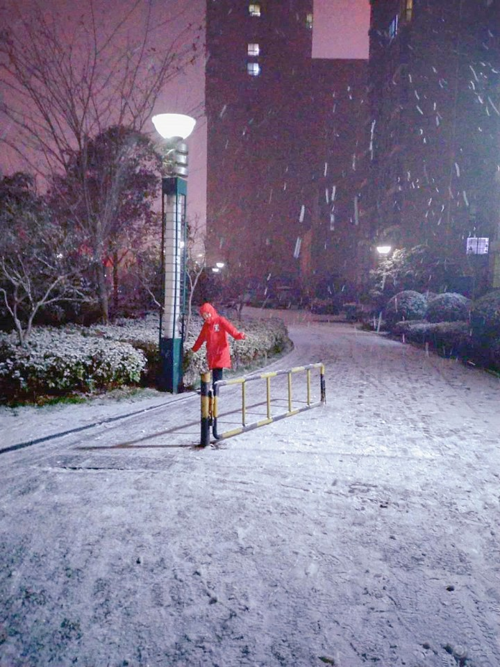 雪天里的童话世界