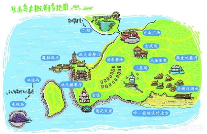 游火山岛——夏天和海,火山与水