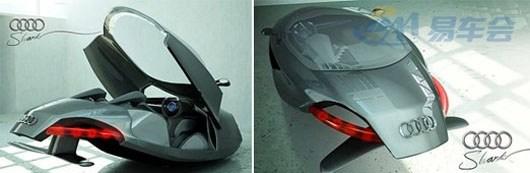 最会飞的:鲨鱼 在匈牙利的一次汽车设计大赛上,一款融合船体、雪橇甚至航天飞行器的奥迪概念车成为众人关注的焦点,这款概概念车以清洁燃料作为动力来源。而今天我们给您介绍的同样为奥迪的一款会飞行的概念车,只不过这款概念车有一个较为凶狠的名字,那就是鲨鱼。 jpg 流线型的车身外观给我们带来了一些新鲜感,正如其车名所显示的诺言个,该车的车尾拥有较低的扰流,并且呈现鱼鳍状的造型,仿佛该车就是畅游于海洋中的鲨鱼。该车的前后车灯都采用了透明的管状造型,并且与LED车灯相融合。车厢内设置的为运动座椅。 jpg 其实这已