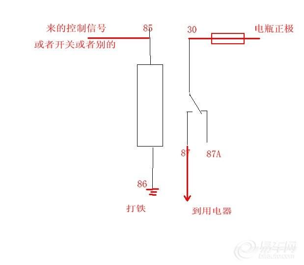 【关于继电器的接线方法和原理图
