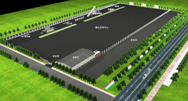 东莞驾校场地设计平面图